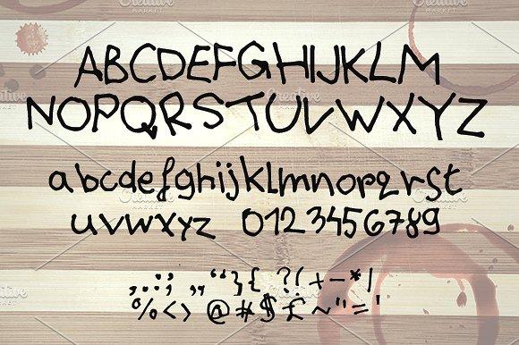 Drunken Message ~ Handwritten Font