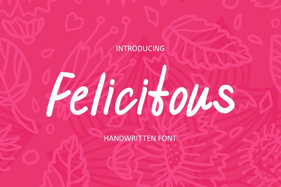 Felicitous handwritten font