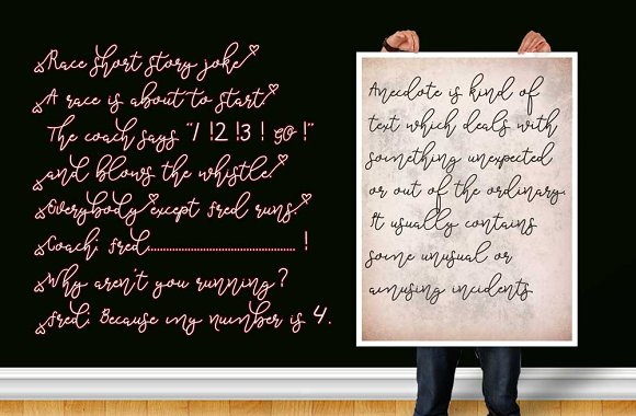 Geoffrey Script Font