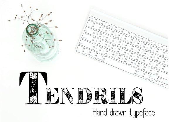Tendrils Decorative Font