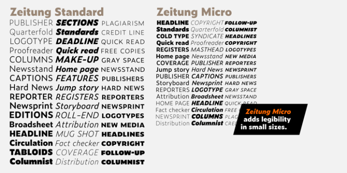 Zeitung Pro Font Family