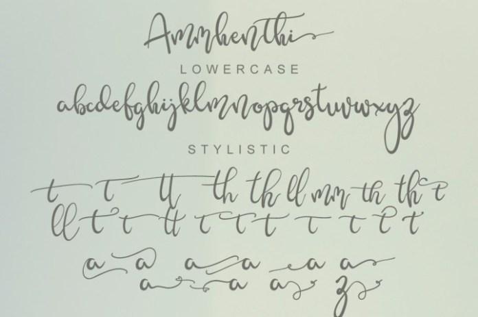 Ammhenthi Script Font