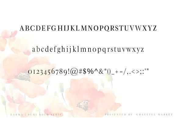 Karma - Semi Bold Serif Font
