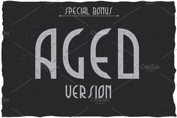 Music Album Vintage Label Typeface
