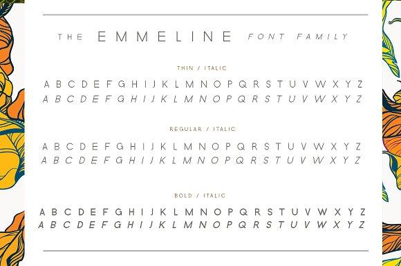Emmeline Font Family