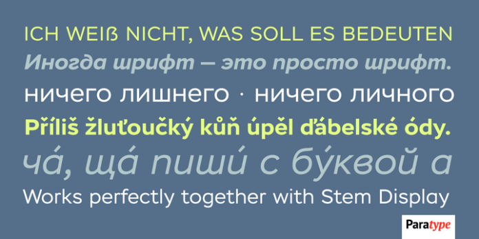 Stem Text Font Family
