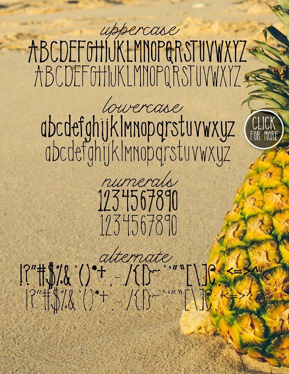 Sweet Pineapple Typeface