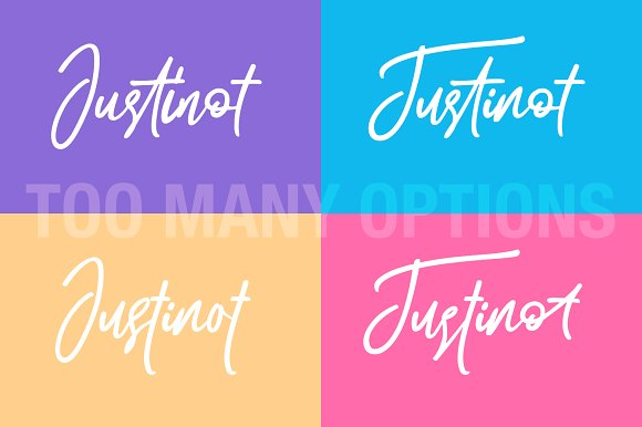 Justinot Infinity Marker Font