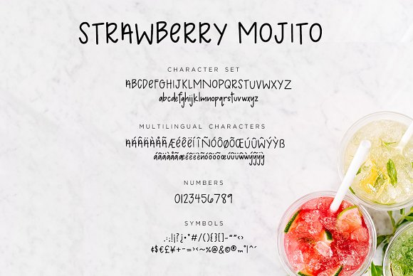 Strawberry Mojito | Handwritten Font