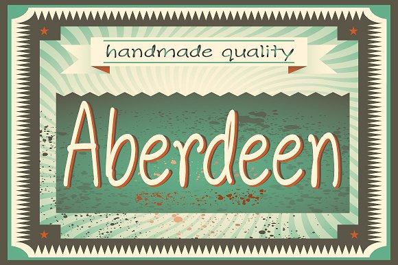 Aberdeen Font Family