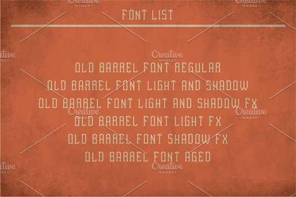 Old Barrel Vintage Label Typeface