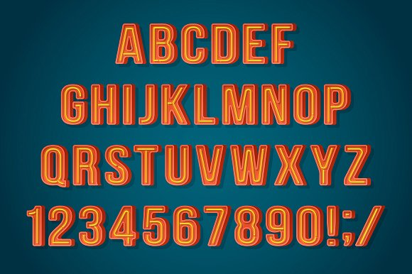 Boxed Neon Font
