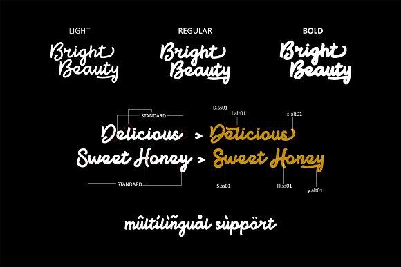 Bright beauty Script Fonts