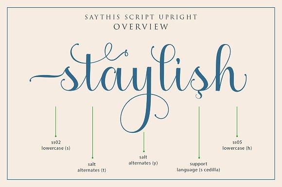 Saythis Script Upright