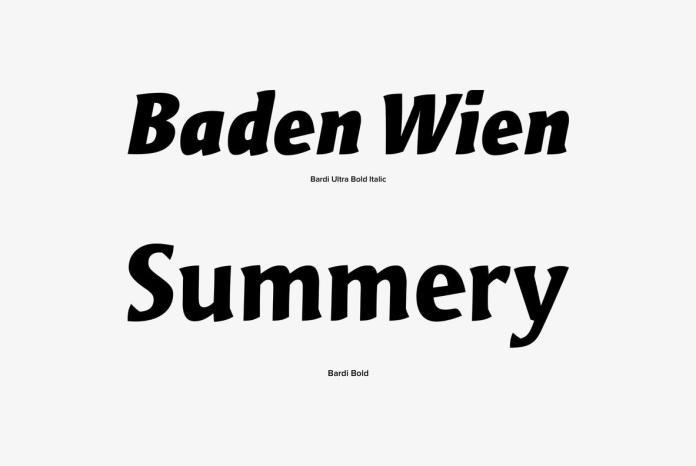 Bardi Font Family