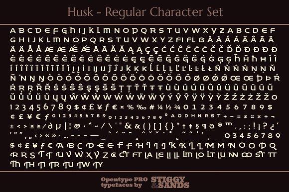Husk Display Font