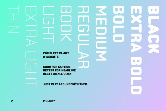 Moldr Font Family