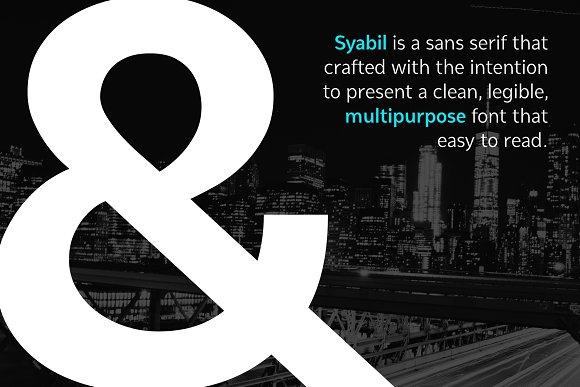 Syabil Sans Serif Font