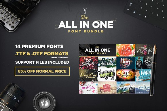 The All In One Font Bundle