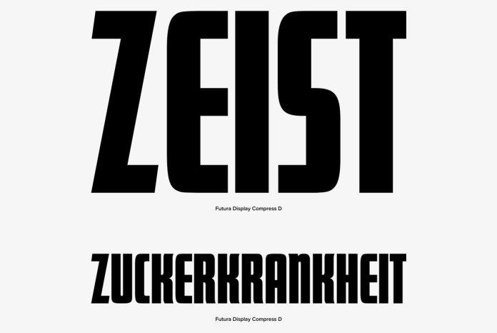 Futura Display Font Family