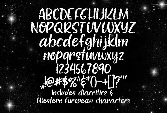 Moonwalk hand-lettered font