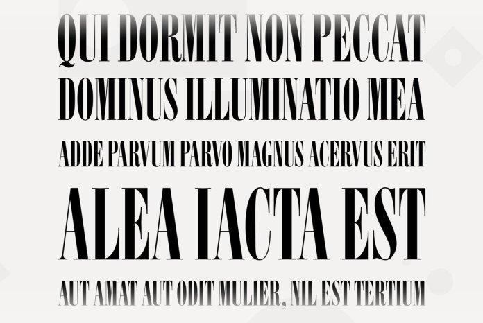 Elongated Roman Font