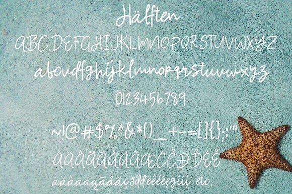 Halften | Handwritten Font