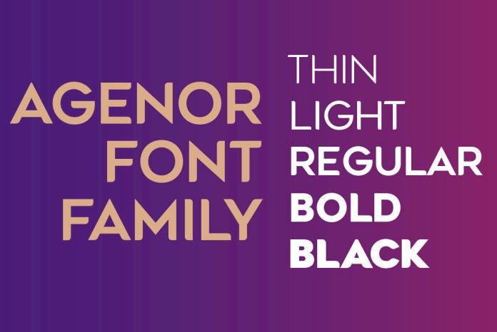 Agenor Font Family