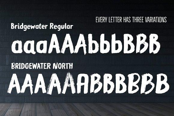 Bridgewater - 3 fonts