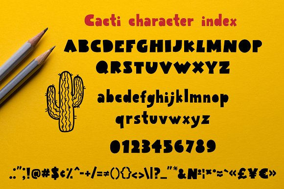 Cacti display font