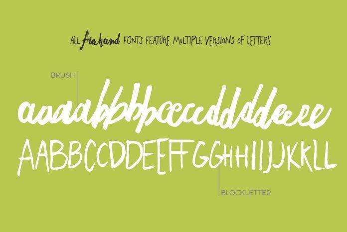 Freehand Brush Font Family