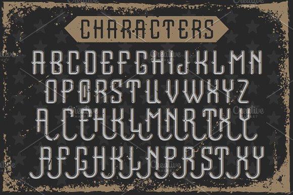 Handcrafted font