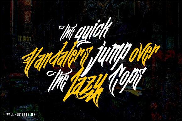Wall Hunter (Graffiti Tag Fonts)