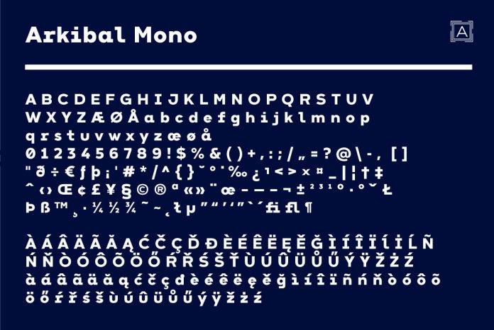 Arkibal Mono Family