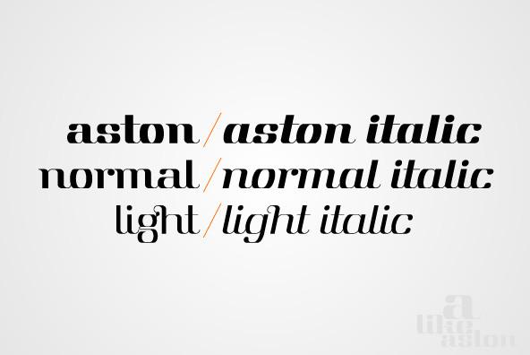 Aston Font Family