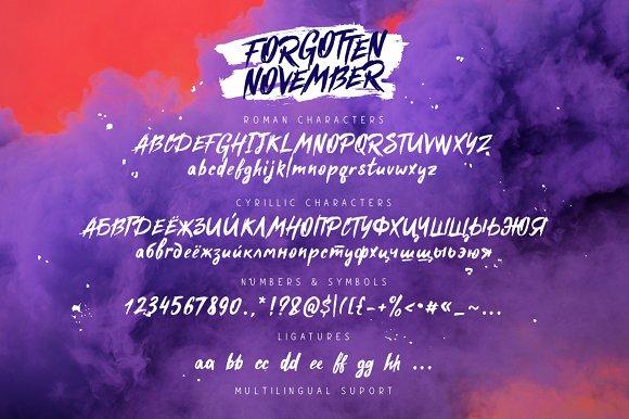 Forgotten November Script Font