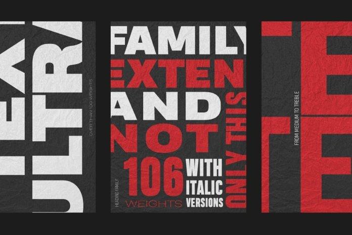 Heading Pro Text Font Family