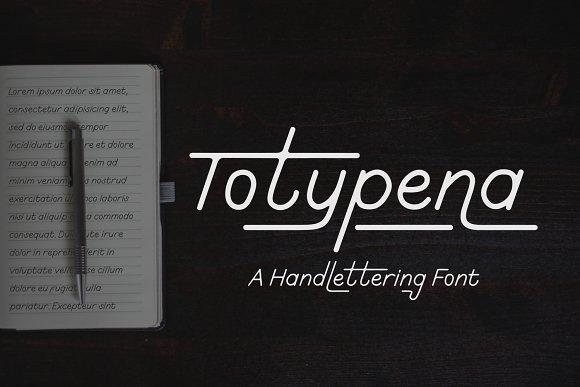 Totypena extended serif