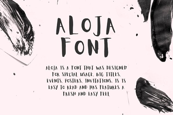 Aloja Light Handwriting Font