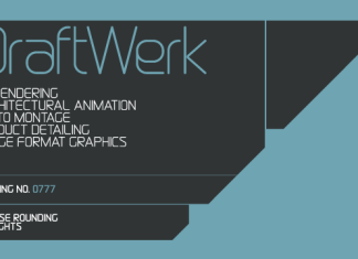 DraftWerk Font Family