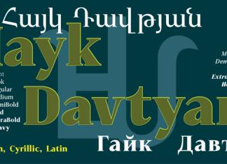 GHEA Hayk Davtyan Font Family
