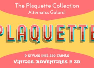 Plaquette Font Family