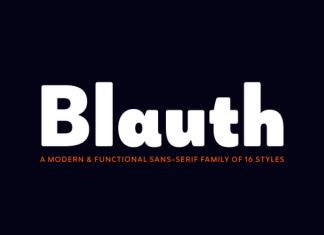 Blauth Font Family