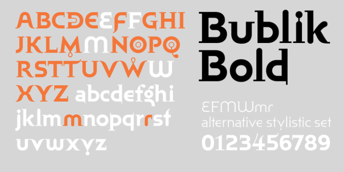 Bublik Font Family