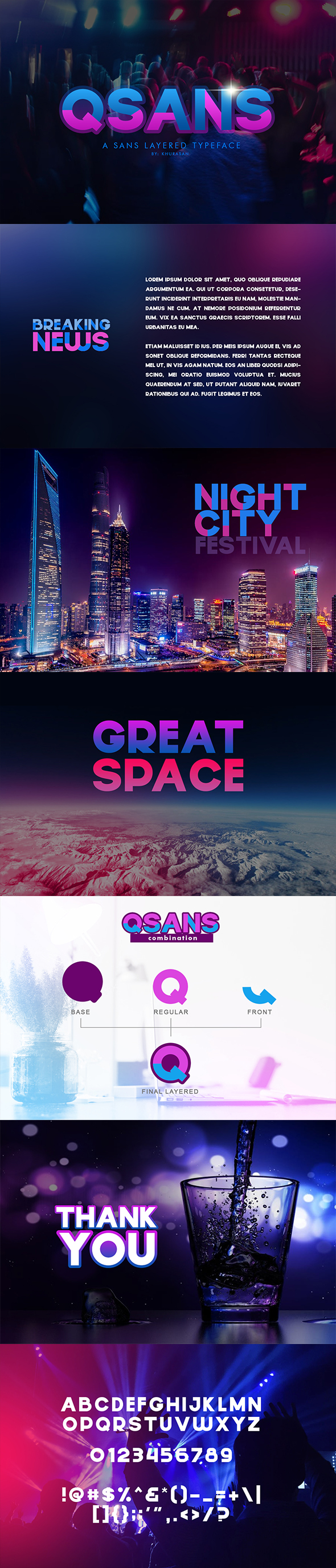 Qsans Layered Typeface