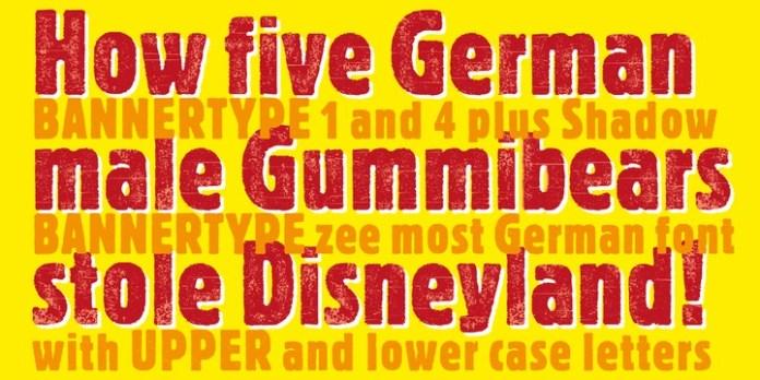 Bannertype Font Family