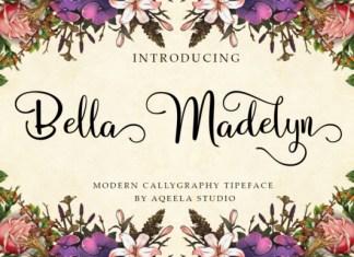 Bella Madelyn Script Font