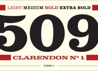 Clarendon No 1 Font Family