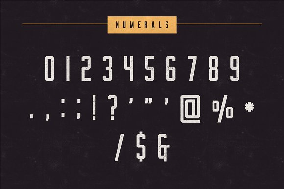 CM - The Farmer Font - Condensed Typeface