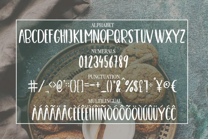 Cute Casual, Handwritten font COOKIES